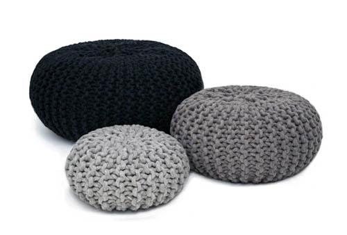 urchin poufs greys